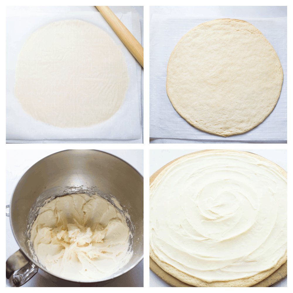 The process of making the cookie dough and icing.