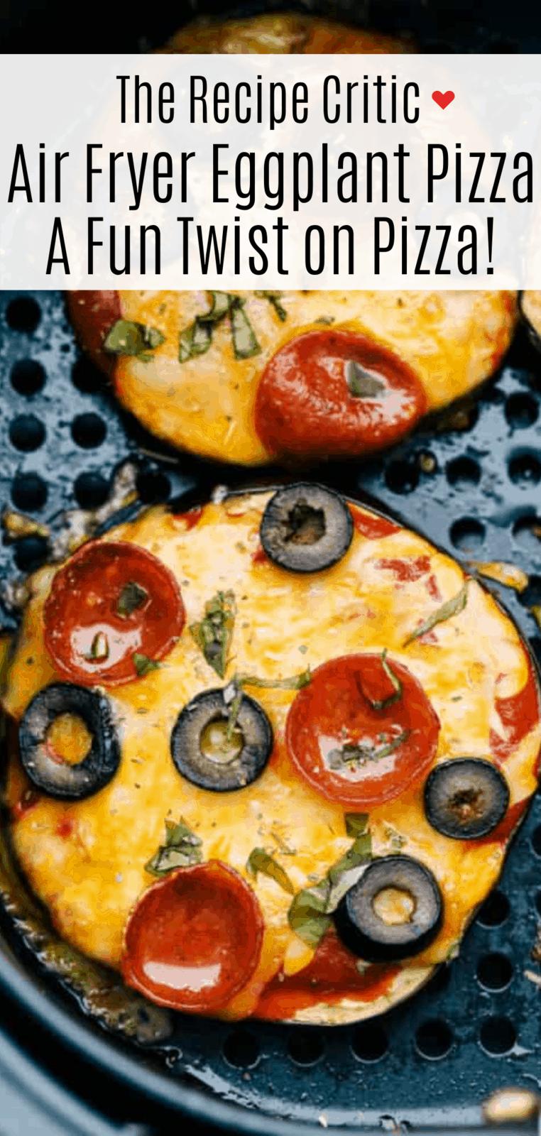 Air Fryer Eggplant Pizza 2