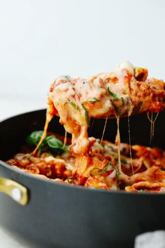 The BEST Skillet Lasagna